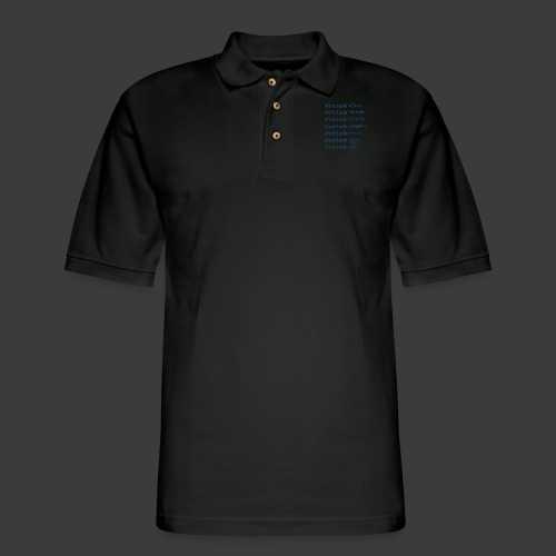 Blue Include List - Men's Pique Polo Shirt