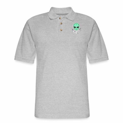 dont belive in humans - Men's Pique Polo Shirt