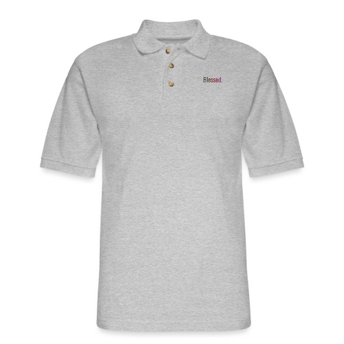 Color BLSSD Logo - Men's Pique Polo Shirt