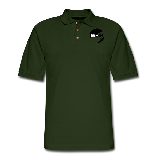White Horse Records Logo - Men's Pique Polo Shirt