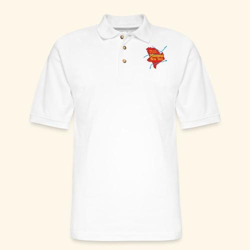 Massena NY Red - Men's Pique Polo Shirt