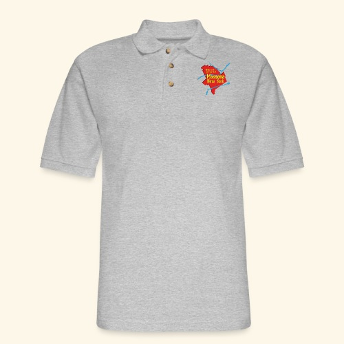 Massena NY Red - Men's Pique Polo Shirt