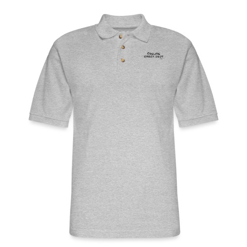 Call Me Crazy Baby Button - Men's Pique Polo Shirt