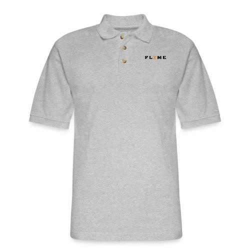 Black FLXME - Men's Pique Polo Shirt