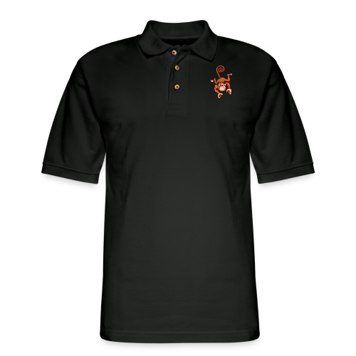 Cheeky Monkey - Men's Pique Polo Shirt