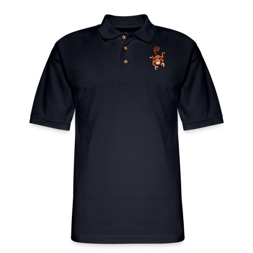 Cheeky Monkey - Men's Pique Polo Shirt