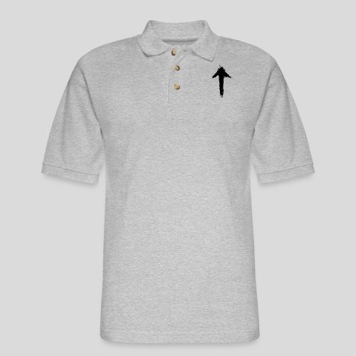 1Up sign (white) - Men's Pique Polo Shirt