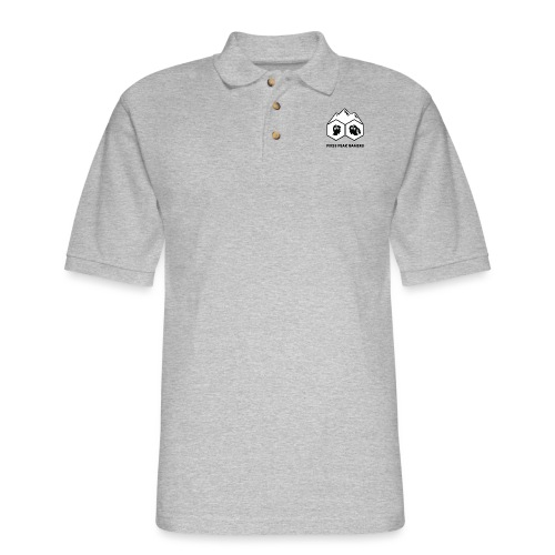 Pikes Peak Gamers Logo (Solid White) - Men's Pique Polo Shirt