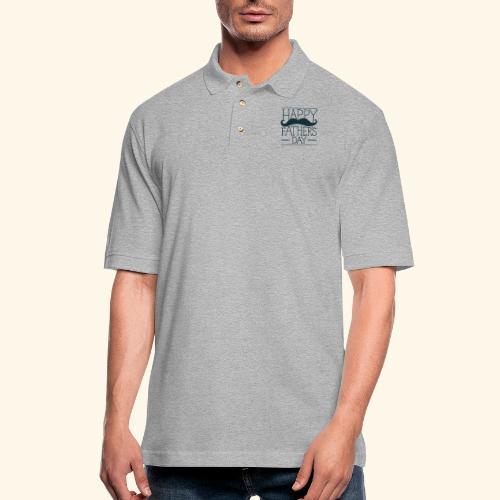 Fathers Day Mustache Design - Men's Pique Polo Shirt