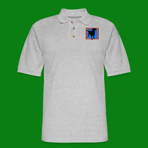 Men's Pique Polo Shirt - dog,cute,Labrador