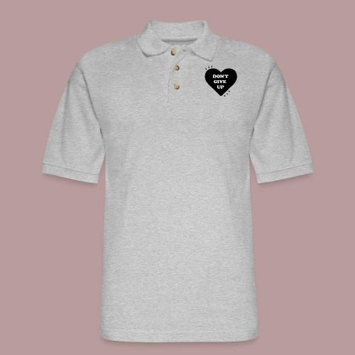 Don't give up - Men's Pique Polo Shirt