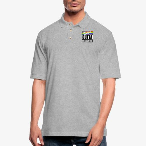 Gay Outta Quarantine - LGBTQ Pride - Men's Pique Polo Shirt