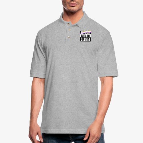 Enby Outta the Closet - Nonbinary Pride - Men's Pique Polo Shirt