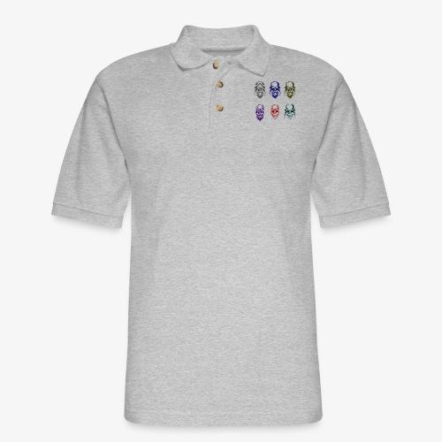Biker Skulls - Men's Pique Polo Shirt