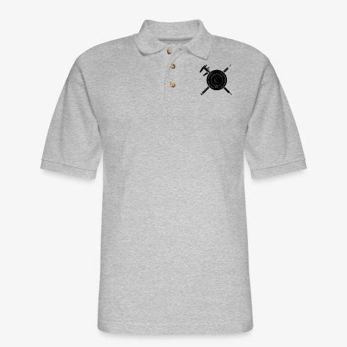 Camera Calipers Pencil - Men's Pique Polo Shirt