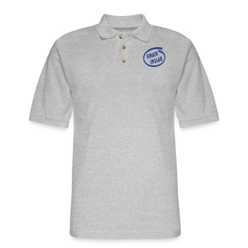 linux inside - Men's Pique Polo Shirt