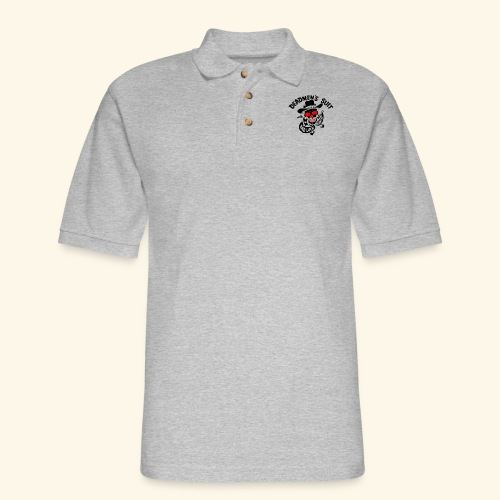 Deadmen's Suit Bad Luck#Skull - Men's Pique Polo Shirt