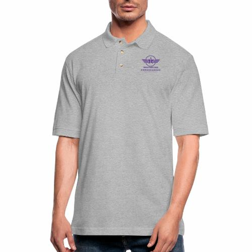 Military Kid Ambassador Purple Logo - Men's Pique Polo Shirt