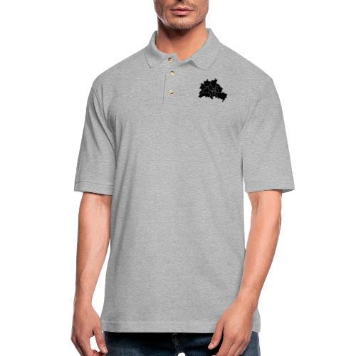 Berlin map, districts - Men's Pique Polo Shirt