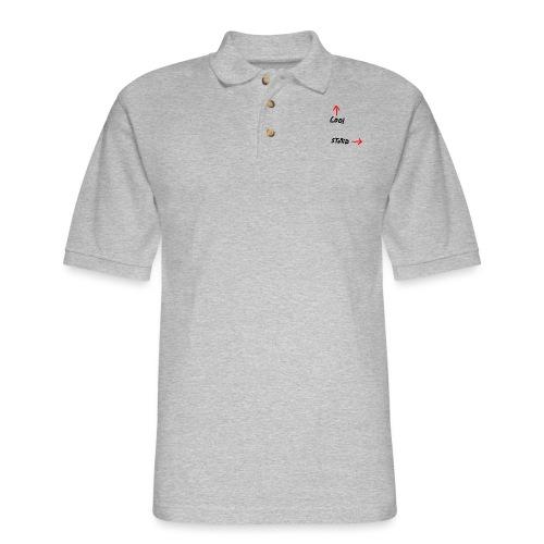 Cool Vs. Stupid - Men's Pique Polo Shirt