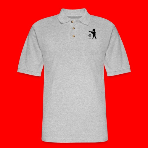 OxyGang: Too Legit To Quit Products - Men's Pique Polo Shirt