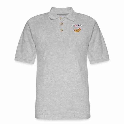 Patriotic BBQ Sausage - Men's Pique Polo Shirt