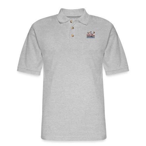Spurtability Black Text - Men's Pique Polo Shirt