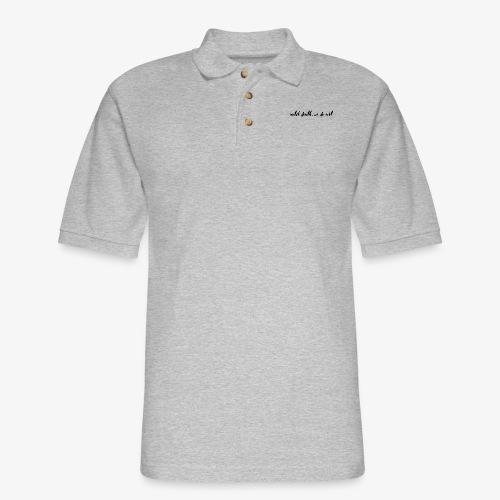 Until Death, We Do Art - Men's Pique Polo Shirt
