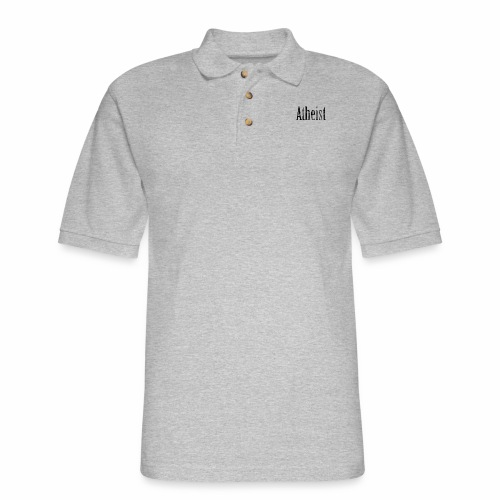 Faded Atheist - Men's Pique Polo Shirt
