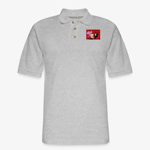 EL GUAPO DIABLO LVS. EL PERRO NEGRO - Men's Pique Polo Shirt