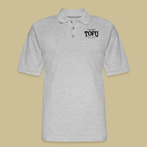 Tofu (black oldstyle) - Men's Pique Polo Shirt