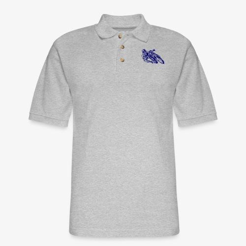 Motorcycle 03 - Men's Pique Polo Shirt