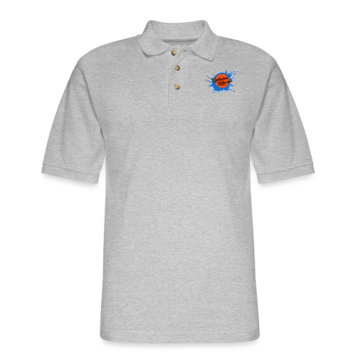 White Explosion Network Pocket Tee - Men's Pique Polo Shirt