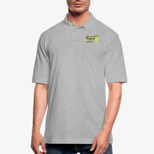 Yellow Vest Stand against the FED. - Men's Pique Polo Shirt