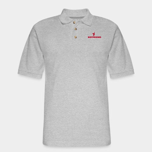 Half-Star Boyfriend - Men's Pique Polo Shirt