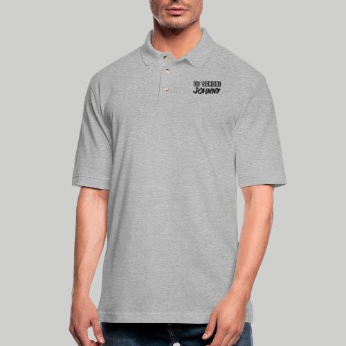 Ol' School Johnny Logo - Black Text - Men's Pique Polo Shirt