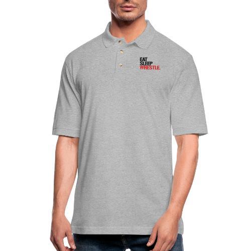 Eat Sleep Wrestle - Men's Pique Polo Shirt