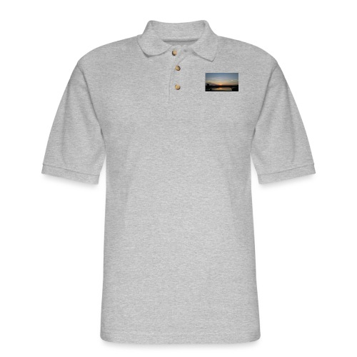 Sunset on the Water - Men's Pique Polo Shirt