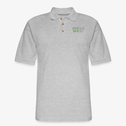 Muscle Eats Fat (Seahawks Gray) - Men's Pique Polo Shirt