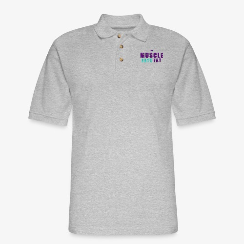 Muscle Eats Fat (Hornets Edition) - Men's Pique Polo Shirt
