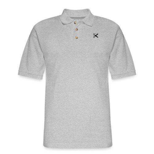 When In Doubt, Cut! (White) - Men's Pique Polo Shirt