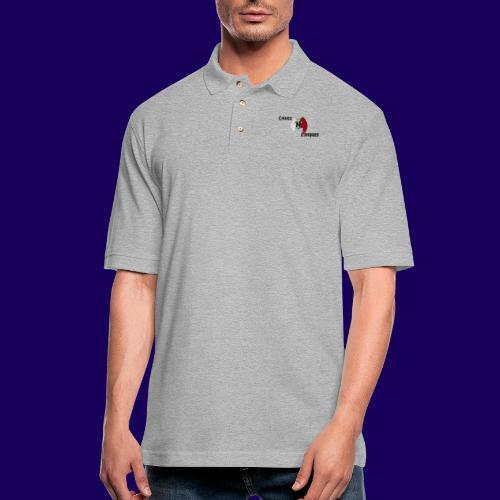 ChaosNConquer Design Logo - Men's Pique Polo Shirt