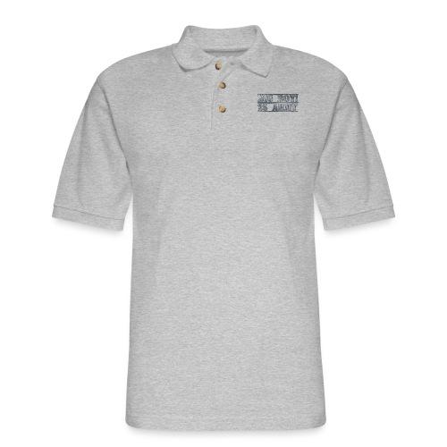 Big Boy Army Design - Men's Pique Polo Shirt