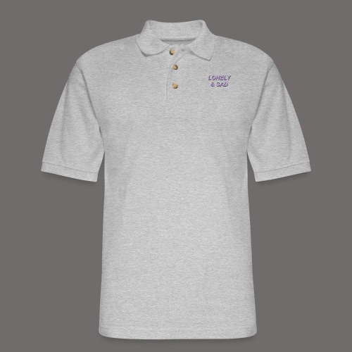 Purple/Black Italic - Men's Pique Polo Shirt