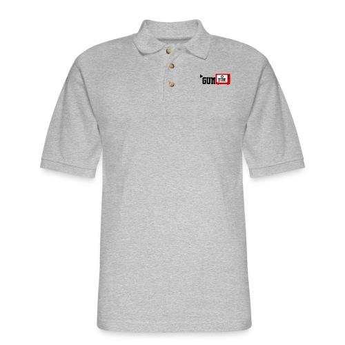 guntube larger logo - Men's Pique Polo Shirt
