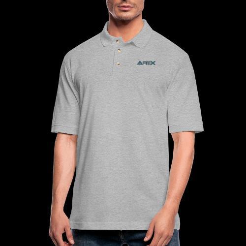 AfimX Logo Design - Men's Pique Polo Shirt