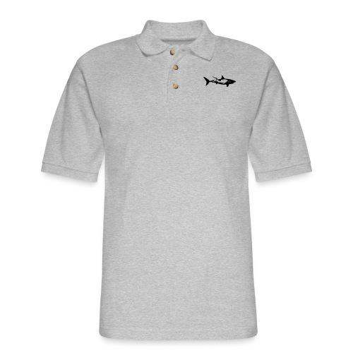 shark scuba diver diving whale dolphin manta - Men's Pique Polo Shirt