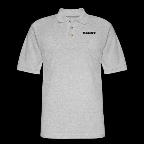MakDee Glitch Logo - Men's Pique Polo Shirt