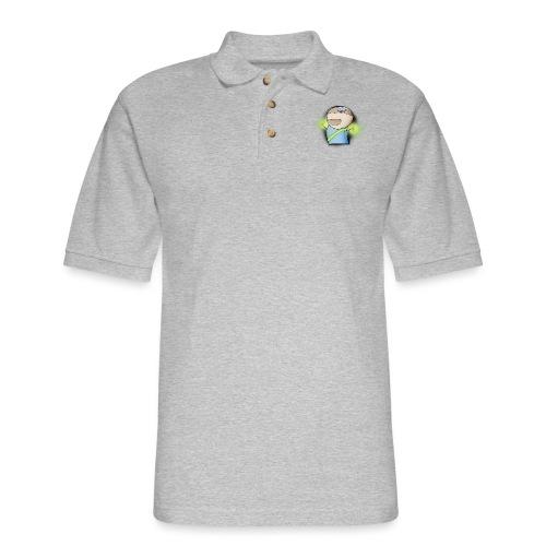 ctr_design_large_black - Men's Pique Polo Shirt