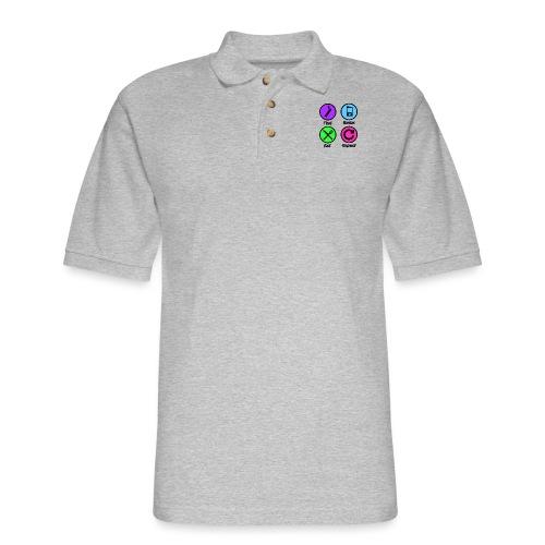 Test Bolus Eat Repeat - Men's Pique Polo Shirt